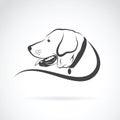 Vector image of an dog labrador head