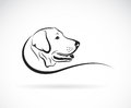 Vector image of an dog labrador head
