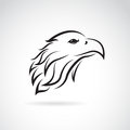 Vector image of an eagle head on white background Royalty Free Stock Images