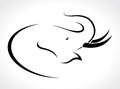 Vector image of an elephant on a white background Royalty Free Stock Image