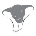 Vector image of an elephant on a white background Royalty Free Stock Photos