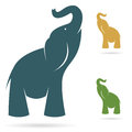 Vector image of an elephant on a white background Royalty Free Stock Images