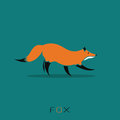 Vector image of a fox design