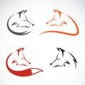 Vector image of an fox design