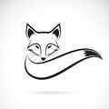 Vector image of a fox design on a white background.