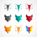Vector image of an fox face design Royalty Free Stock Photo