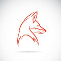 Vector image of an fox