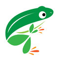 Vector image of an frog Royalty Free Stock Image