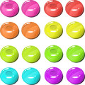 Vector image of fruity candies in eight color modes Royalty Free Stock Image