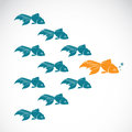 Vector image of an goldfish showing leader individuality success Royalty Free Stock Photo