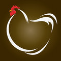 Vector image of an hen on brown background Royalty Free Stock Image