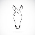 Vector image of an horse face Stock Photo