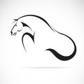 Vector image of an horse on white background Royalty Free Stock Photos