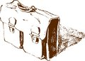 Vector image old briefcase Stock Image