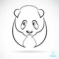 Vector image of an panda on white background Stock Photos