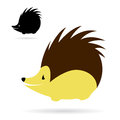 Vector image of an porcupine on white background Stock Image