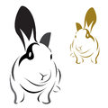 Vector image of an rabbit Royalty Free Stock Images