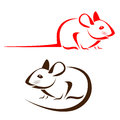 Vector image of an rat Royalty Free Stock Image