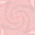 Vector image Red and white waves striped background.Optical illusion.background with wavy pattern. black-white striped swirl. Royalty Free Stock Photo