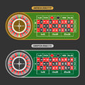 Vector image of Roulette Table