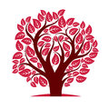 Vector image of single branchy tree nature concept art symboli symbolic illustration plant forest idea Royalty Free Stock Photo