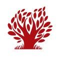 Vector image of single branchy tree nature concept art symboli symbolic illustration plant forest idea Stock Image