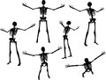 Vector Image - skeleton silhouette in power pose  on white background Royalty Free Stock Photo