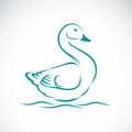 Vector image of swan Royalty Free Stock Photo