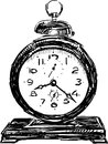 Vector image vintage alarm clock Royalty Free Stock Photo
