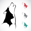 Vector image of an wolf on white background Royalty Free Stock Photo