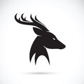 Vector images of deer head Royalty Free Stock Photo