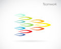 Vector images of the design of fish teamwork concept Royalty Free Stock Image