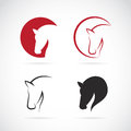 Vector images of horse design