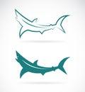 Vector images of sharks design