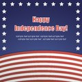Vector independence day badge poster illustration of Stock Photo