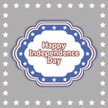 Vector independence day badge poster illustration of Royalty Free Stock Images