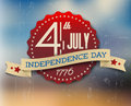 Vector independence day badge poster retro vintage version Royalty Free Stock Photo