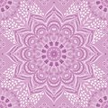Vector Indian floral lilac and purple mandala