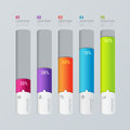 Vector indicator chart graphic infographics mockup template Royalty Free Stock Photo