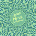 Vector infinite floral background. Elegant old fashioned floral ornament, exquisite floral template.