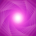 Vector infinite tunnel of shining flares on violet background with shallow depth of field. Glowing points form tunnel Royalty Free Stock Photo