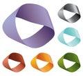 Vector infinite warp shape colored Royalty Free Stock Photo