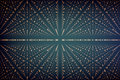 Vector infinity data matrix visualization. Big data structure with binary numbers lattice. Information code array