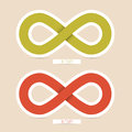 Vector Infinity Symbols Royalty Free Stock Photo