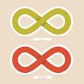 Vector Infinity Symbols Royalty Free Stock Photo