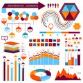 Vector info-graphic elements set 01 Royalty Free Stock Photo