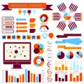 Vector info graphic elements set this is file of eps format Royalty Free Stock Image