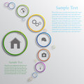 Vector infographic background design with different icons Stock Photos