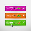 Vector infographic banner design template Stock Photography