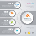 Vector Infographic design white circles Royalty Free Stock Photo